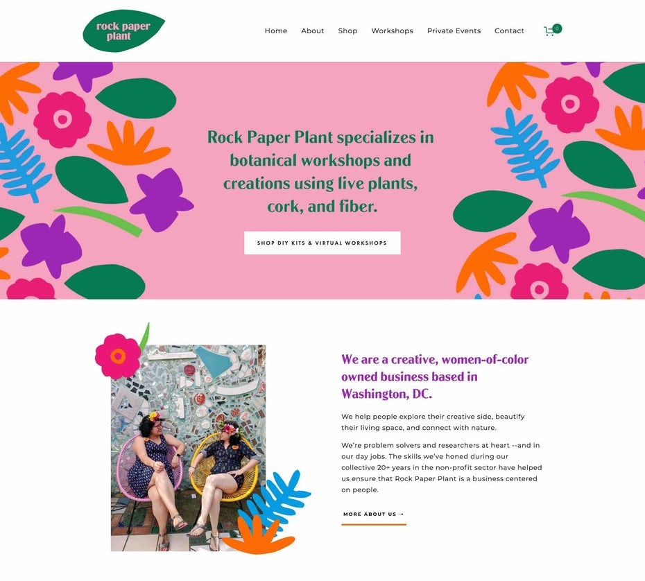 Colorful Squarespace Website