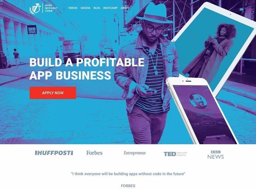 Blue duotone website