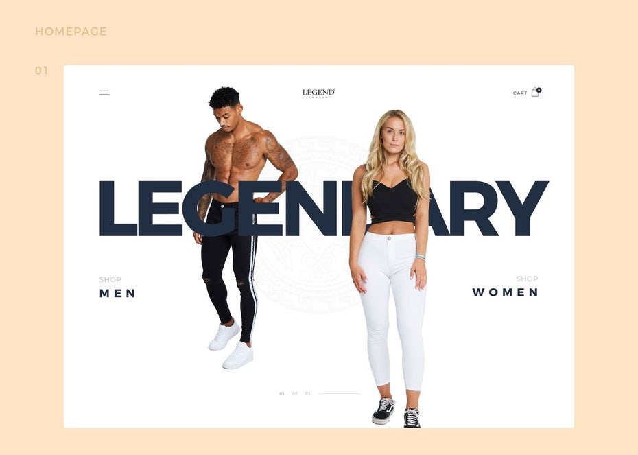 Legend London text homepage