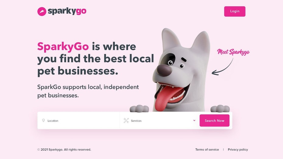 Landing Page for Pet Business