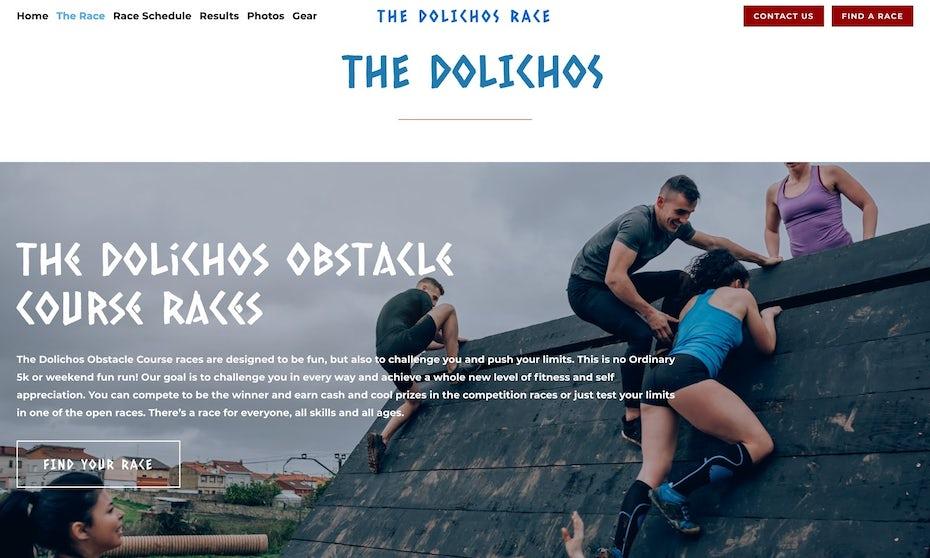 Site web des courses Spartan