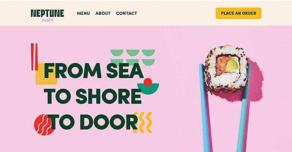 Sushi restaurant landing page