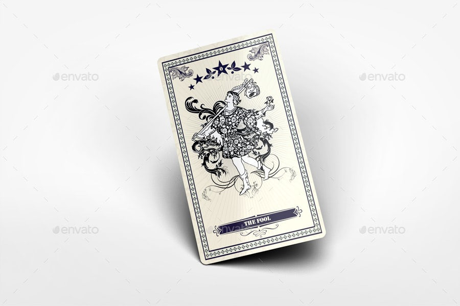 mockup showing fronts and backs of tarot cards