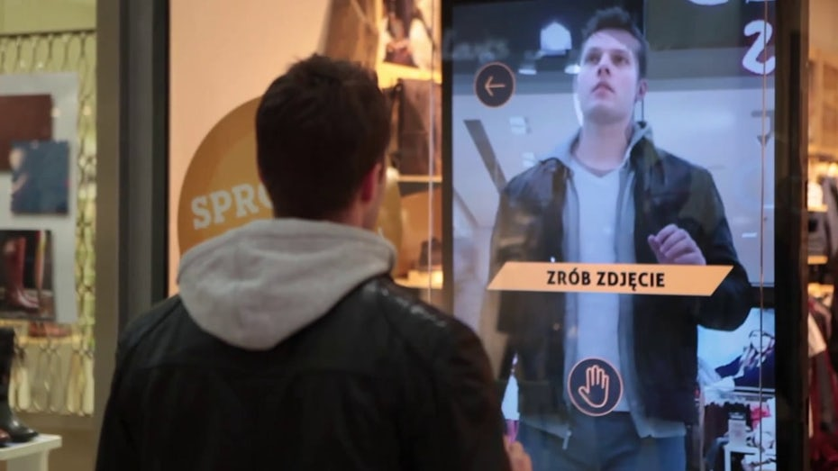 Timberland augmented reality fitting room