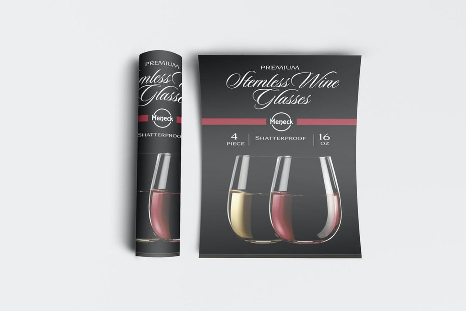 Rolled and flat wine poster