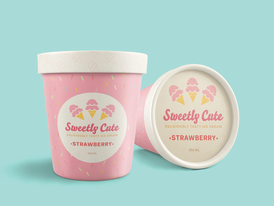 Sweetly Cute ice cream packaging