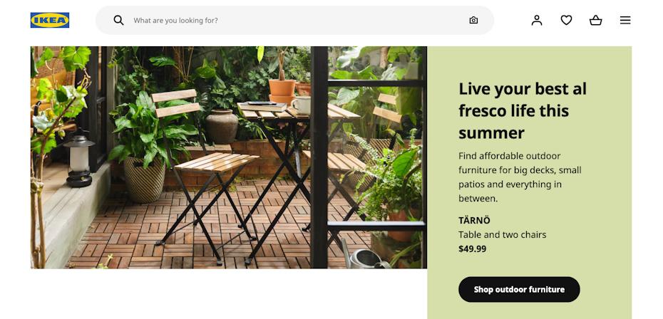 Ikea home page