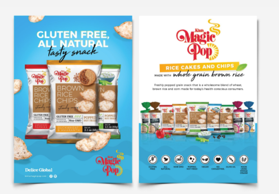 Magic pop snack brand brown rice chips