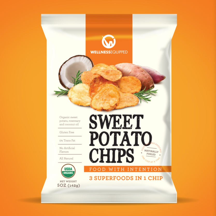 Sweet potato chips packaging
