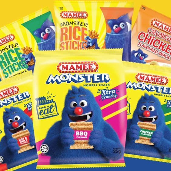 six packages for mamee monster
