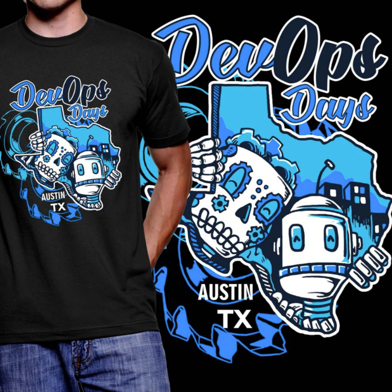 t-shirt illustration of two robots