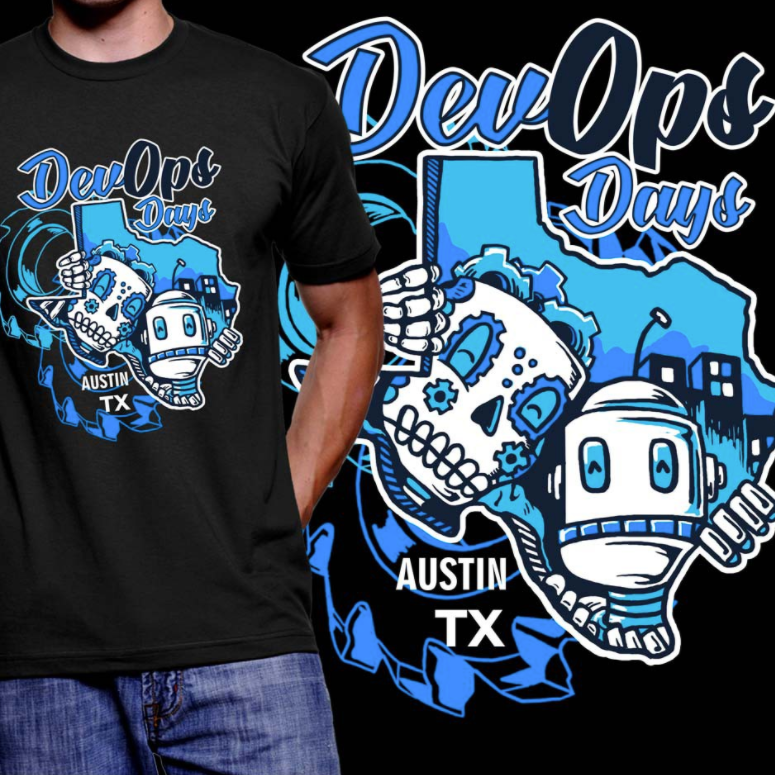 t-shirt illustration of two robots