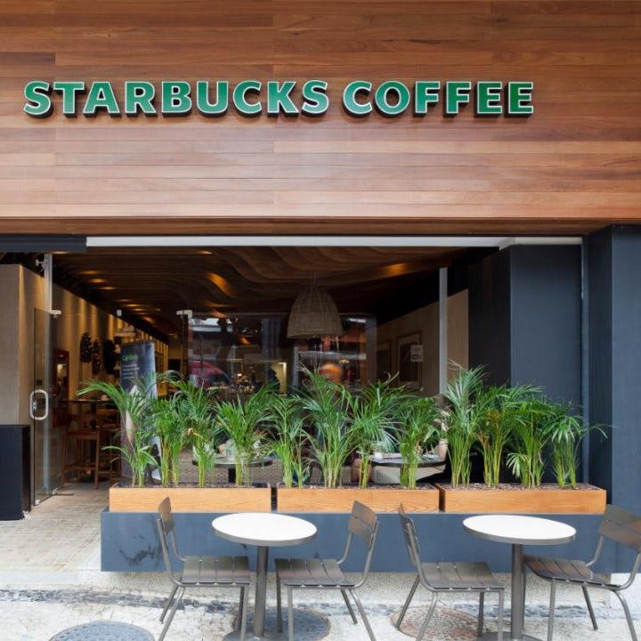 Starbucks storefront in Sao Paulo, Brazil
