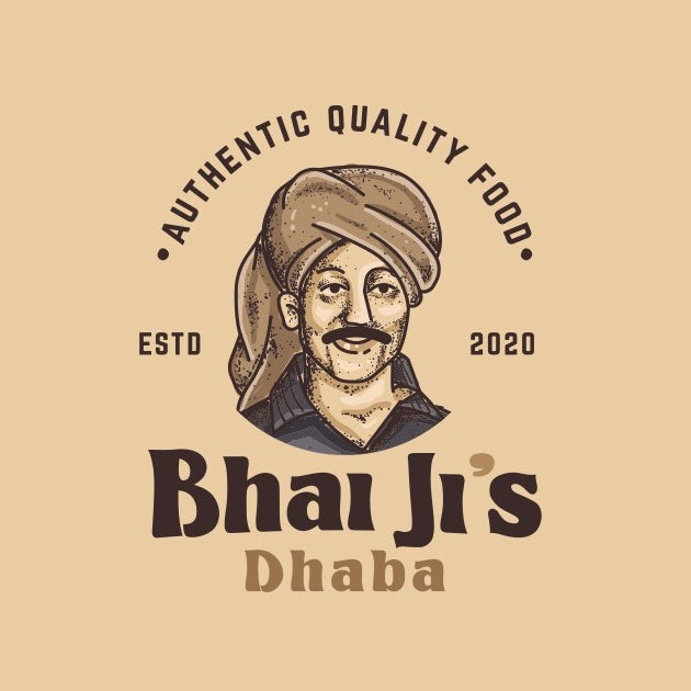 Logo design for an Indian restaurant with a chef character