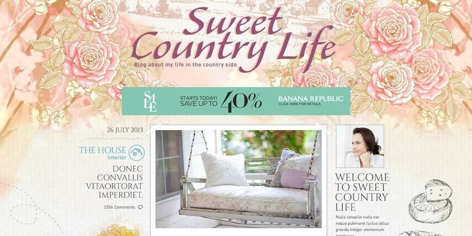 pastel illustration blog design