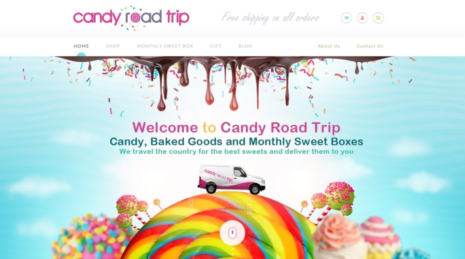 colorful candy subscription website