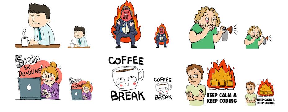 各种Emoji贴纸设计