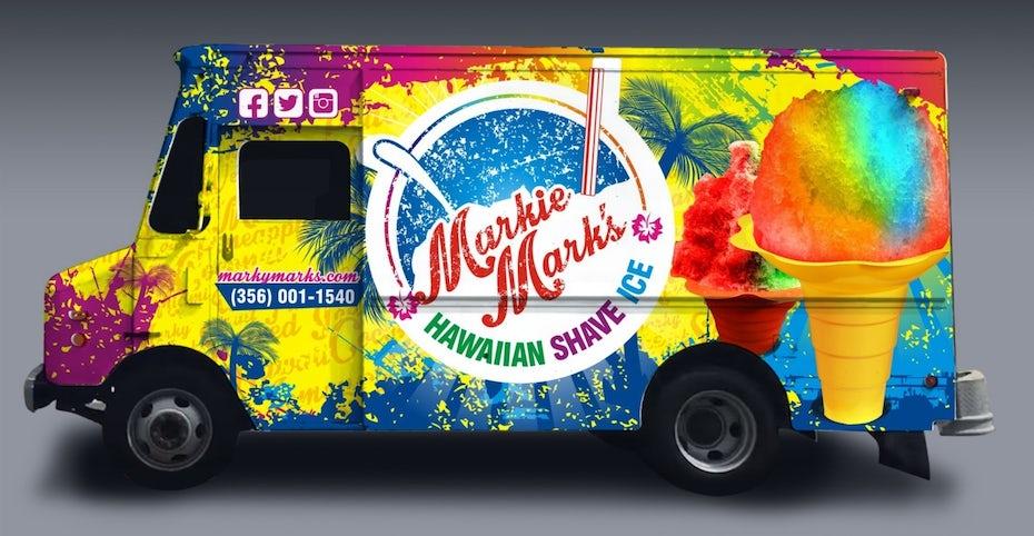 Markie Mark's Hawaiian shave ice truck