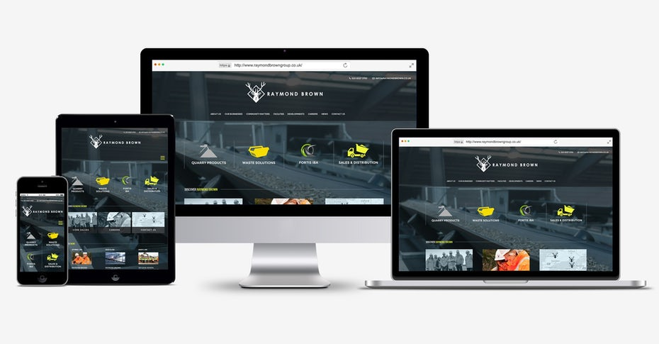 website design for desktop, laptop, tablet and smartphone screens
