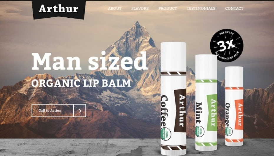 Arthur lip balm messaging