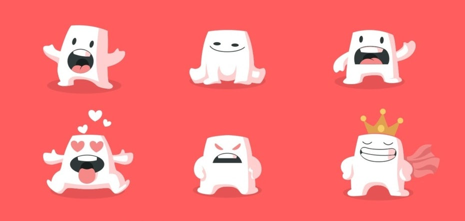 Marshmallow character emoji designs