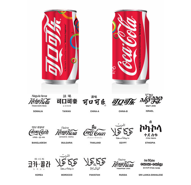 Coco cola in different languages
