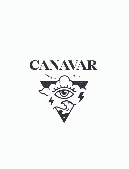 Triangular logo design for a tattoo brand
