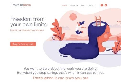 pastel toned web page design