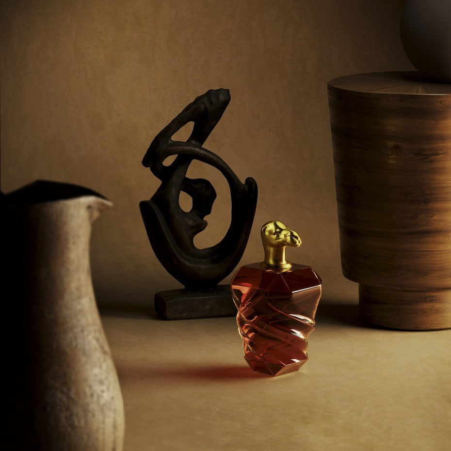 3D perfume bottle and cap design