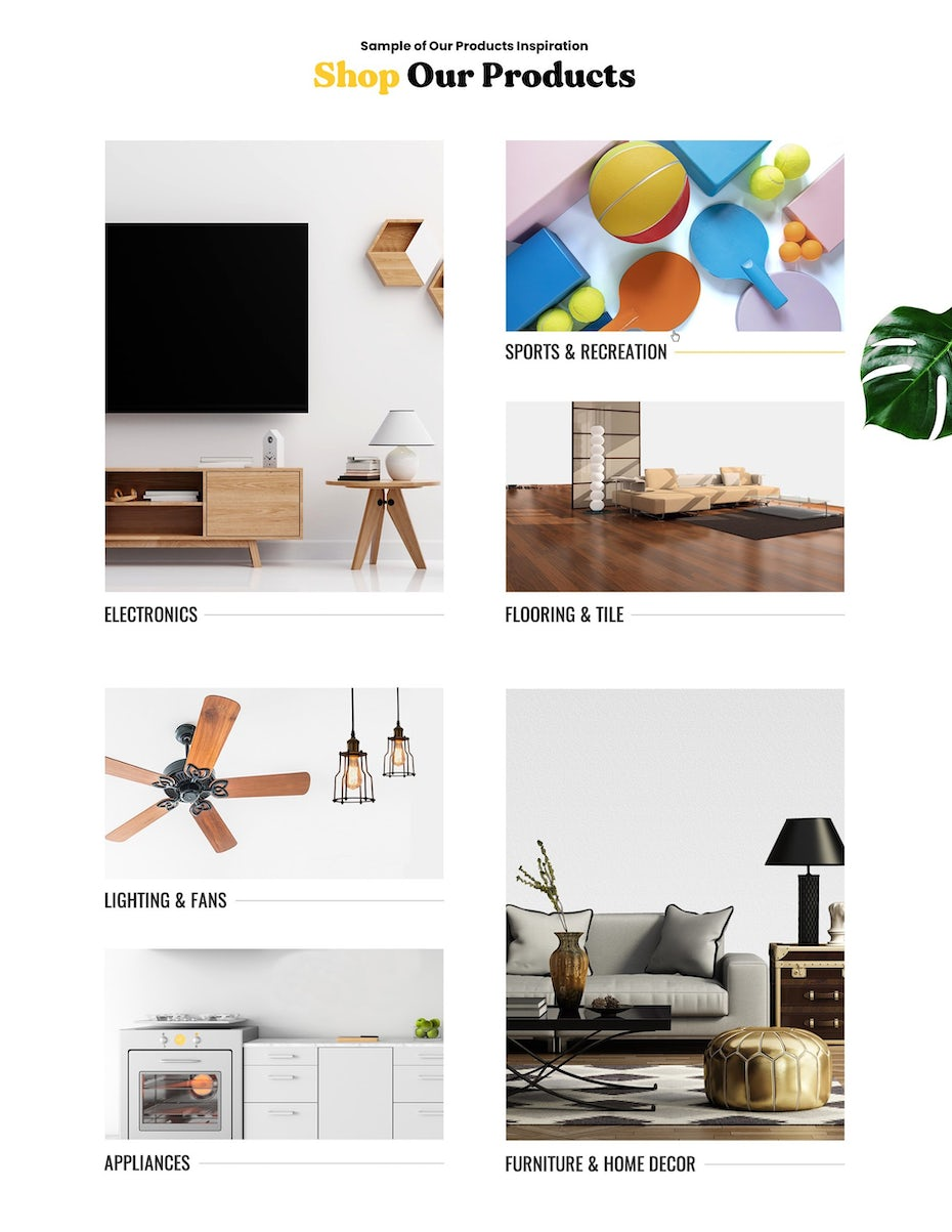 interiors multiproduct gallery on ecommerce site