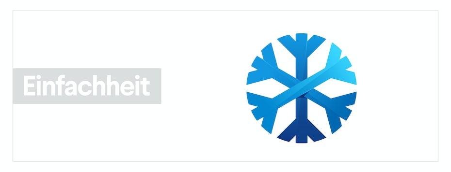 Ein Schneeflockenbild, das das Gestaltprinzip der Einfachheit darstellt