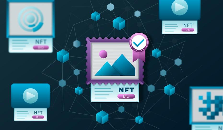 Representation of NFT art marketplace