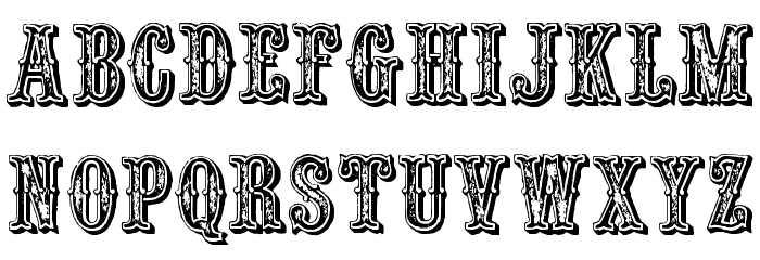 black and white Outlaw font