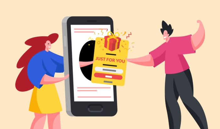 illustration of personalization in ecommerce app
