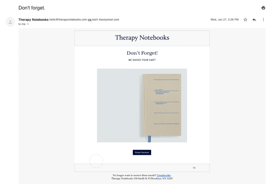 email from therapy notebooks