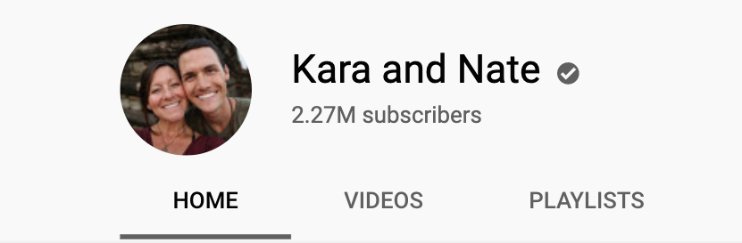 kara and nate youtube channel profile image