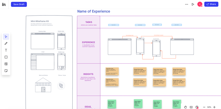 InVision Freehand sketching and user flow editor