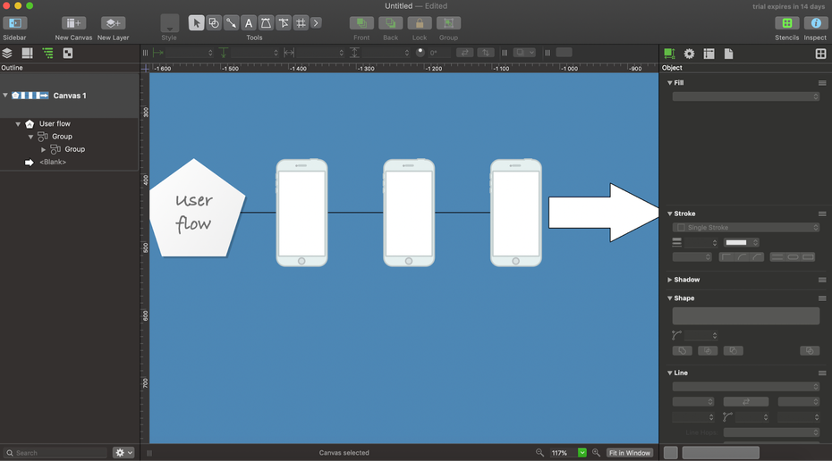OmniGraffle Pro user interface
