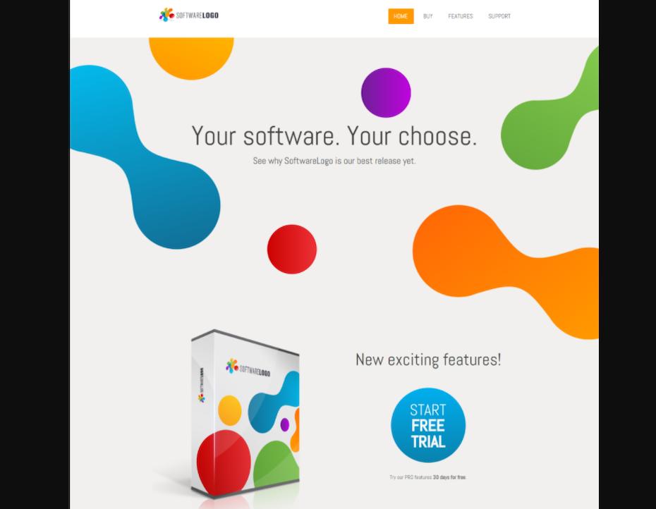software web design concept