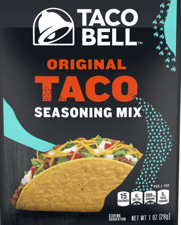 packet of Taco Bell seasoning mix