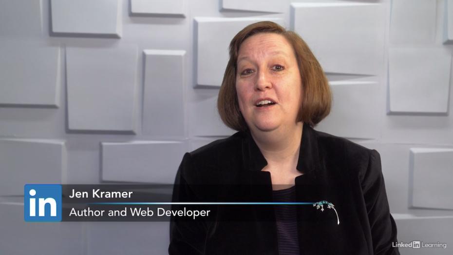 Screenshot of Webflow tutorial example: Learning Webflow from Jen Kramer