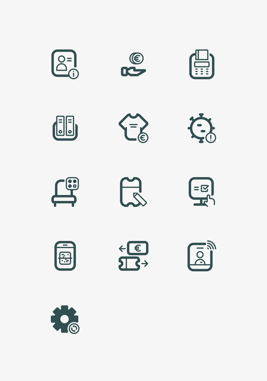 Icons for a ticketing app