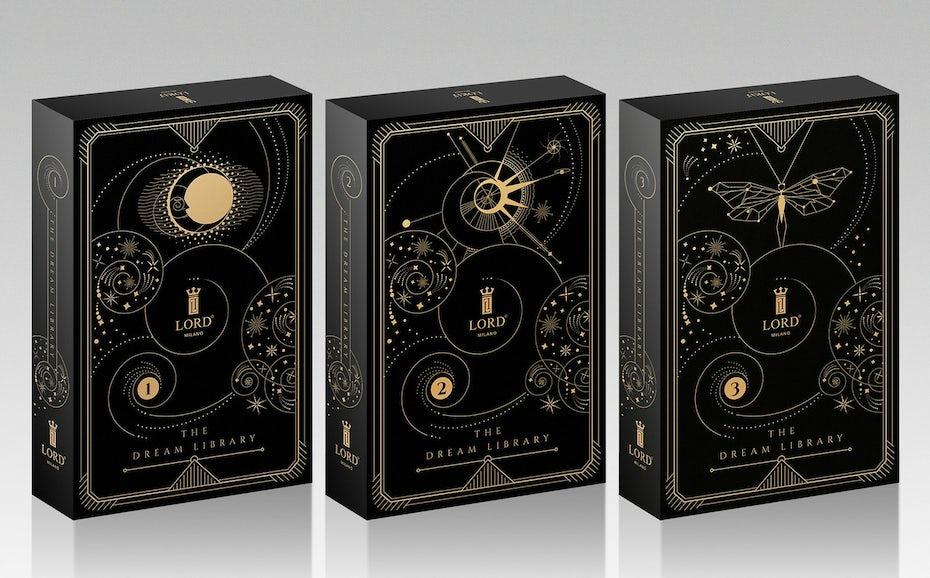 Constellation perfume box packaging design