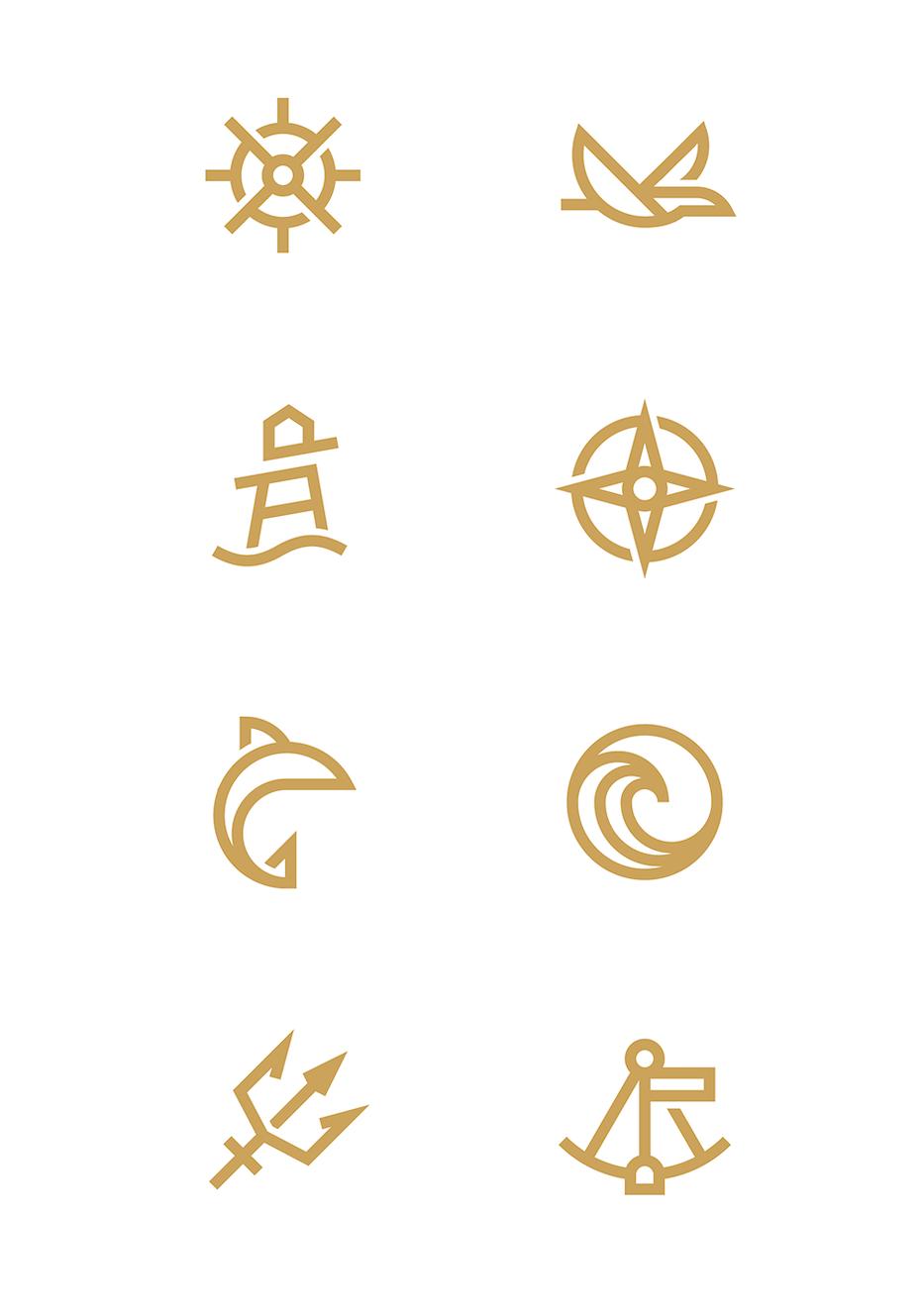 Nautical icon designs