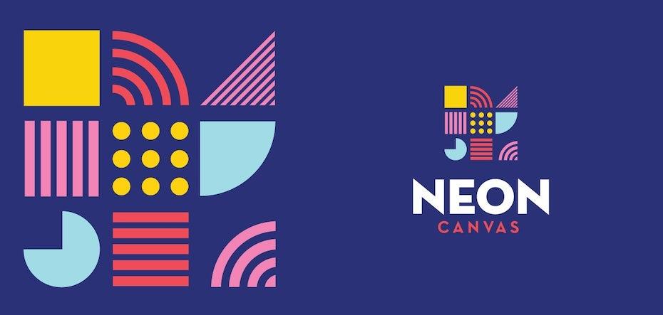 Colorful, geometric, shape-based logo design