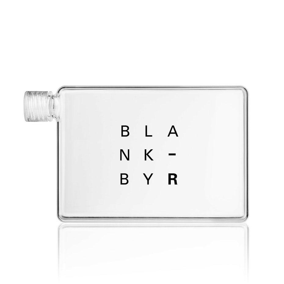 Flat minimalist perfume bottle design