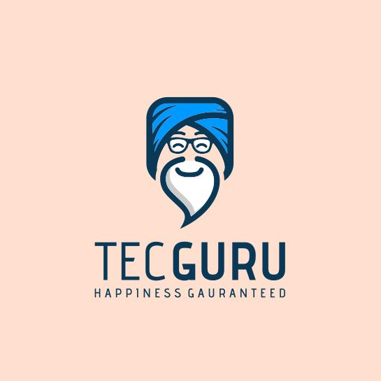 Logo design of a cartoon guru