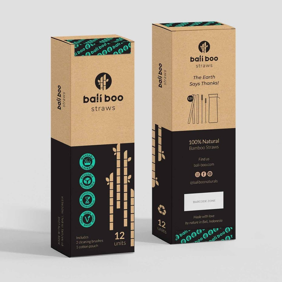 Packaging for bamboo straws