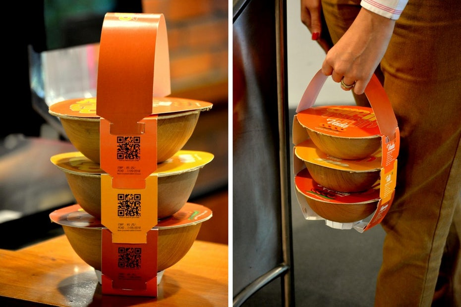 Stackable takeout packaging