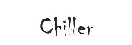 Chiller font